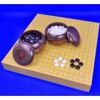 囲碁セット ヒバ2寸ハギ卓上碁盤セット(ガラス碁石新生梅・栗碁笥大)
