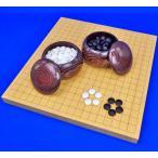囲碁セット 新かや1寸ハギ卓上碁盤セット(ガラス碁石新生梅・栗碁笥大)