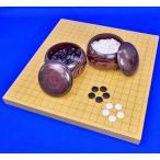 囲碁セット 新かや1寸ハギ卓上碁盤セット(蛤碁石25号・栗碁笥大)