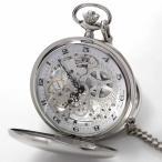 アラビア数字文字盤、フルスケルトンの両開き懐中時計