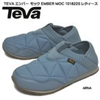 テバ 靴 スニーカー エンバー モック 1018225-15072005 ARNA 水色 撥水 キルト ニット スリッポン サンダル 秋冬靴 レディース 婦人