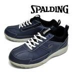 スポルディング 靴 シューズ CS355 ネービー 防水 靴幅4E サイドファスナー パークゴルフシューズ メンズシューズ 紳士靴 紳士 メンズ