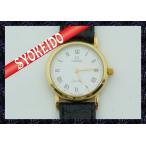 オメガ(ΩOMEGA)/腕時計/レディース/デビル/deville/K18×革ベルト/クォーツ/純正尾錠・革ベルト/新古美品