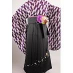 二尺袖 着物 矢絣 紫系(S・Fサイズ) 長襦袢 刺繍ボカシ袴(3色、S�3Lサイズから選べる)袴下帯 重ね衿 5点セット