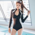 水着 レディース 体型カバー 40代 50代 フィットネス 長袖水着 オシャレ スポーツ 韓国風水着 ワンピース 上品 着痩せ
