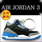 エア ジョーダン3 キーホルダー JORDAN3 AJ3 SPORT BLUE スニーカー NBA MVP エレファント セメント バッシュ AIR レトロ マイケルジョーダン ストリート