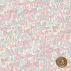 (サンドウオリジナルカラー)リバティプリント タナローン『Jenny's Ribbons ジェニーズ・リボンズ』キャンディーピンク&ソーダ(06-3636294/J20E)