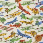 リバティプリント タナローン『Tom's Jet トムズ ジェット』キャロットオレンジ(サンドウオリジナルカラー/3631176)