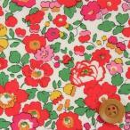 ショッピングリバティ リバティプリント タナローン生地『Betsy ベッツィ』レッド&ピンク(3332019/SE)