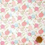 ショッピングプリント リバティプリント タナローン『Ribbon Bloom リボン・ブルーム』ピンク(18-3638224/18AT)