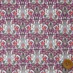ショッピングプリント リバティプリント タナローン『Morris Butterfly モリス・バタフライ』パープル&ピンク(18-3638227/18BT)