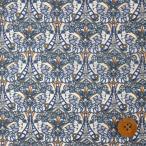 リバティプリント タナローン『Morris Butterfly モリス・バタフライ』ブラウン&ブルー(18-3638227/18CT)