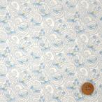 ショッピングプリント リバティプリント タナローン『Voyage ヴォヤージュ』ライトブルー(18-3638241/18BT)