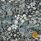 ショッピングプリント リバティプリント タナローン『Faria Flowers Small ファリア・フラワーズ・スモール』ブラック&グレー(18-3638246/18AT)