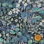 ショッピングプリント リバティプリント タナローン『Faria Flowers Small ファリア・フラワーズ・スモール』ブルー(18-3638246/18CT)