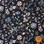 リバティプリント タナローン『Botanist's Diary ボタニストズ・ダイアリー』パープル&ブラック(20-36302147/SD20B)