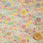 リバティプリント タナローン生地『Pebble ペブル』ピンク(サンドウ限定復刻色/10-3630152・B)