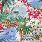 リバティプリント タナローン『Cape Vista ケープ・ヴィスタ』レッド&ブルー(21-3631132/21AT)