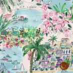 リバティプリント タナローン『Cape Vista ケープ・ヴィスタ』ピンク&グリーン(21-3631132/21BT)