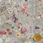 ショッピングプリント リバティプリント タナローン320『Wild Flowers ワイルド・フラワーズ』グレー(3634251/14C・サンドウ限定復刻色)