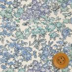 リバティプリント タナローン生地 『Tom トム』ライトブルー&ブルー(3635050・BE)