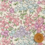 リバティプリント タナローン生地 『Tom トム』ピンク&パープル(3635050・CE)