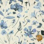 ショッピングプリント リバティプリント タナローン生地 『Floral Eve フローラル・イヴ』ブルーグレー(限定入荷商品)(3633189)