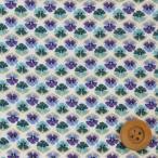 リバティプリント タナローン生地 『Tiny Miranda タイニー・ミランダ』ブルー&パープル(3634160SS)