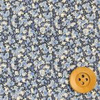 ショッピングプリント リバティプリント タナローン生地 『Pepper ペッパー』ブルー(3339010・RE)