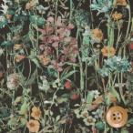 リバティプリント タナローン『Wild Flowers ワイルド・フラワーズ』ブラック(3634251/DE)