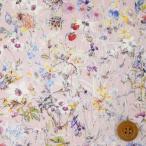 リバティプリント タナローン『Wild Flowers ワイルド・フラワーズ』ライトピンク地(3634251/ZE)