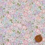 リバティプリント タナローン『Michelle ミシェル』クラシックピンク&パープル (国産/サンドウ限定販売色/3636017・E)
