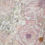 ショッピングプリント リバティプリント タナローン生地 『Rose Xanthe ローズ・ザンジー』朱鷺羽(ときは)/ピンク (ホビーショップサンドウオリジナルカラー)(3635180・J16B)