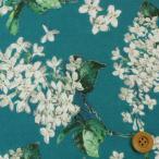 リバティプリント タナローン生地 『Archive Lilac アーカイブ・ライラック』ディープブルー&ホワイト(サンドウ限定再販色)(3635189/15D)