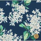 ショッピングプリント リバティプリント タナローン生地 『Archive Lilac アーカイブ・ライラック』クラシックネイビー(国産/サンドウ限定再販色)(3635189/15D)