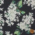 リバティプリント タナローン生地 『Archive Lilac アーカイブ・ライラック』ブラック(サンドウオリジナルカラー)(3635189/J15G)