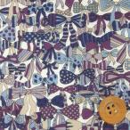 リバティプリント タナローン『Jenny's Ribbons ジェニーズ・リボンズ』パープル&ブルー(サンドウ限定復刻色/3636294)