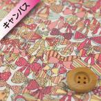 リバティプリント (オーガビッツ11号ハンプ)『Jenny's Ribbons ジェニーズ・リボンズ』イエロー&ピンク(サンドウ限定復刻色)