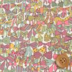 リバティプリント タナローン『Jenny's Ribbons ジェニーズ・リボンズ』ミックス(サンドウオリジナルカラー/3636294)
