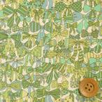 リバティプリント タナローン『Jenny's Ribbons ジェニーズ・リボンズ』メロンソーダ(サンドウオリジナルカラー/3636294)