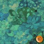 (サンドウ限定復刻色)リバティプリント タナローン生地 『Emerald Bay エメラルド・ベイ』グリーン&ブルー(15-3635258/15A)