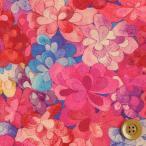 (サンドウ限定復刻色)リバティプリント タナローン生地 『Emerald Bay エメラルド・ベイ』ショッキングピンク(15-3635258/15B)
