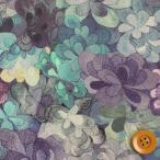 (サンドウ限定復刻色)リバティプリント タナローン生地 『Emerald Bay エメラルド・ベイ』ブルー&パープル(15-3635258/15C)
