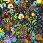 ショッピングプリント リバティプリント タナローン452『Small Artist's Bloom/ブラック&パープル』スモール・アーティスツ・ブルーム(16-3636151/16C)