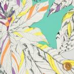 リバティプリント タナローン460『Paradise パラダイス』エメラルドグリーン&グレー(16-3636161/16C)