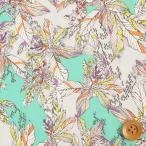 リバティプリント タナローン461『Small Paradise/エメラルドグリーン&グレー』スモール・パラダイス(16-3636162/16C)