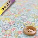 リバティプリント (コーデュロイ)『Michelle ミシェル』オレンジ&グリーン(3636017・B)(3636017/B)