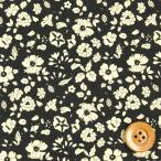 リバティプリント タナローン486『Edgar's Garden エドガーズ・ガーデン』ブラック(DC28679/J16F)