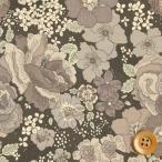 リバティプリント タナローン489『Amelie's Rose&Garden アメリーズ・ローズ&ガーデン』グレー&グレー(DC28684/J16C)