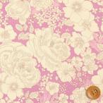 リバティプリント タナローン489『Amelie's Rose&Garden アメリーズ・ローズ&ガーデン』ピンク(DC28684/J16D)